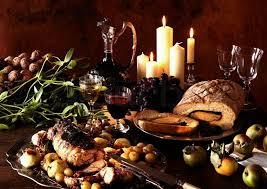 gourmet food gourmet food for christmas dinner stock photo colourbox