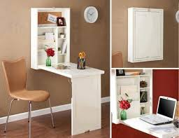 Fold Away Wall Mounted Desk Less Is More Fold Away Wall Desks Treehugger For Modern Home
