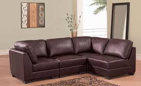 Martino Leather Sectional Sofa Cozycottages Biz Wp Content Uploads Brown Leather