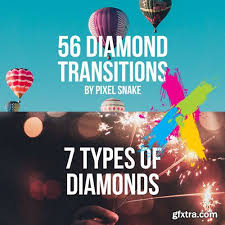 56 diamond offset transitions premiere pro templates vector