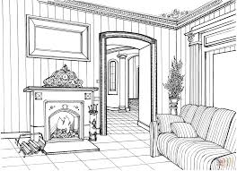 fireplace room coloring page free printable coloring pages
