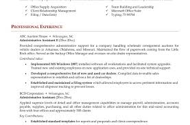 resume stunning office assistant resume sample executive
