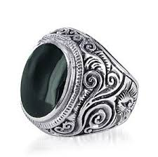 silver rings for men mens 925 sterling silver signet ring set with black onyx size 8 13
