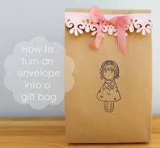 how to fold an envelope how to turn an envelope into a gift bag craft me happy how to