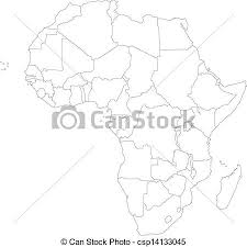 africa map drawing outline africa map with countries eps vector search clip