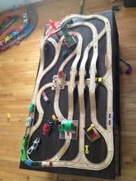 wooden train track design train tables pinterest wooden