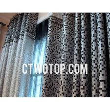 Modern Pattern Curtains Modern Silver And Black Cool Geometric Pattern Curtains