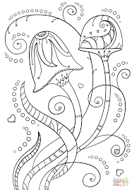 psychedelic mushrooms coloring page free printable coloring pages