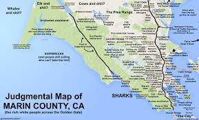 map of county judgmental maps marin county ca by ken p copr 2016 ken p all