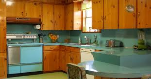 painting knotty pine cabinets before and after