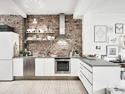 briques cuisine best mur cuisine brique blanche contemporary awesome interior