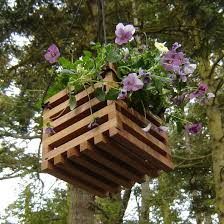 wooden flower pot holders 10 cool ideas for recycled hanging