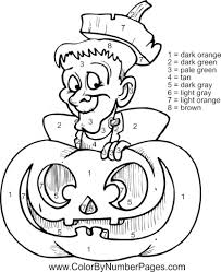 free printable halloween color by number pages aecost net