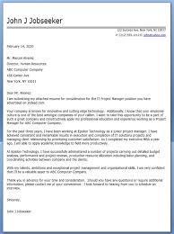 sample cover letter for senior program manager cover job cover