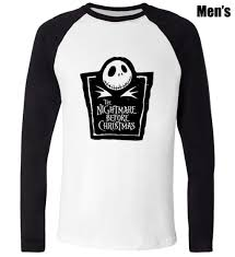 skellington the nightmare before design printed t