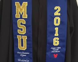 customized graduation stoles custom graduation stole etsy