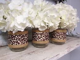 Cheetah Print Bathroom by Set Of 3 Burlap And Leopard Print Ribbon By Samanthabugglin