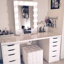 Vanity Makeup Lights Bedroom Glamorous Corner Makeup Vanity To Give You Maximum Floor