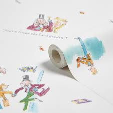 what colour paper did roald dahl write on muriva roald dahl golden ticket wallpaper departments diy at b q