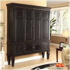 2 drawer pottery tv armoire in black finish houses pinterest