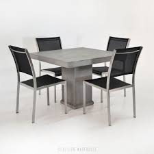 pedestal table with chairs design warehouse concrete pedestal table set with 4 chairs