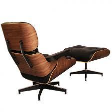 Eames Style Rar Molded Black Style Lounge Chair And Ottoman Walnut U0026 Black Leather