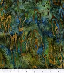 batik fabric navy landscape batik joann