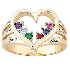 name rings for s birthstone goldtone heart name ring 6577415 hsn