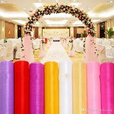 wedding backdrop tulle 27 colors ribbon roll organza tulle yarn chair covers accessories
