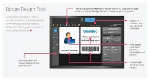 secure badge design and issuance genetec