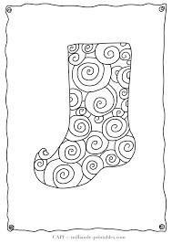 coloring stocking patterns printable christmas stocking pattern