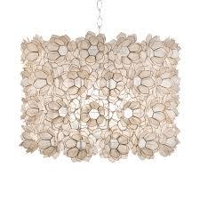 capiz flush mount light worlds away capiz floral pendant off white candelabra inc