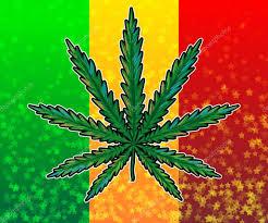 Pot Flag Ganja Leaf On Rasta Colored Flag U2014 Stock Vector Artskvortsova