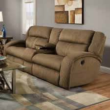 Beige Leather Loveseat Furniture Excellent Reclining Loveseat With Center Console For
