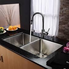kraus khu102 33 kpf1622 ksd30 33 undermount double bowl stainless