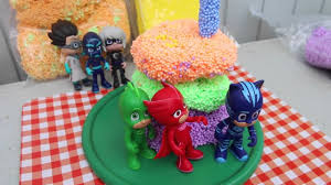 pj masks birthday party cake diy play foam cake pj masks