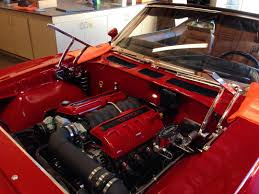 69 gto ls swap engine covers red black custom engine covers