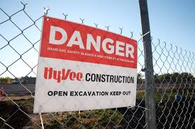 construction of new hy vee underway in coralville the gazette