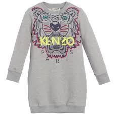grey tiger sweatshirt dress sweatshirt dress kenzo and tigers