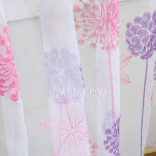 Pink And Purple Curtains Purple And Pink Flower And Butterfly Patterns Embroidered Floral