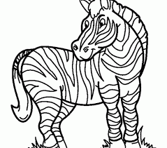 free coloring pages zebra color collection gallery