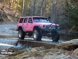 jeep lifted pink sassy pink jeep cherokee sport xj stock photo picture and royalty