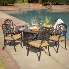 Patio Dining Sets With Fire Pits by Antique Schemes Of Fire Pit Dining Table To Warm Your Outdoor