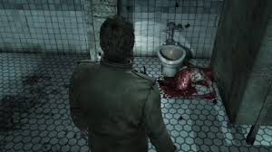 image silent hill homecoming screenshot bloody torso toilet