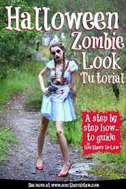southern in law step by step halloween zombie look tutorial