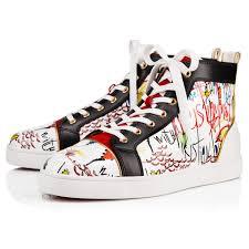 louis flat loubitag version white patent men shoes christian