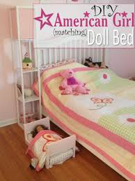 how to make american girl doll bed two it yourself diy doll bed for american girl from scrapwood