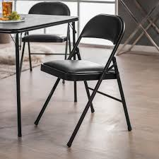 meco sudden comfort padded folding chair 2 pack walmart com