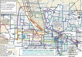 Map Of Eugene Oregon by Wetlands Alternative The Map