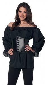 plus size pirate blouse plus size s sleeve black renaissance peasant blouse
